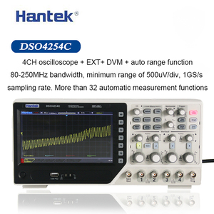 Image 1 - Hantek Digital Oscilloscope DSO4254C 4 Channels 250Mhz Bandwidth LCD PC Portable USB Oscilloscopes 1GS/s Sample Rate