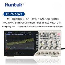 Hantek osciloscopio Digital DSO4254C, 4 canales, 250Mhz, ancho de banda, LCD, PC, USB portátil, 1GS/s Frecuencia de muestreo