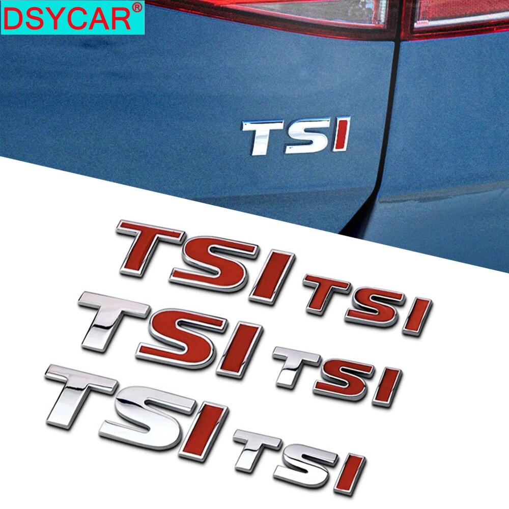 DSYCAR 1 adet yeni 3D Metal TSI araba yan çamurluk arka bagaj amblemi rozeti çıkartmaları Volkswagen Sagitar Golf Magotan Polaris Boracay
