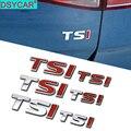 DSYCAR 1Pcs Neue 3D Metall TSI Auto Seite Fender Hinten Stamm Emblem Abzeichen Aufkleber für Volkswagen Sagitar Golf Magotan polaris Boracay
