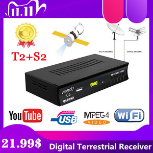 Image 1 - Лидер продаж, спутниковый цифровой декодер в европейском и русском стиле, Full HD TV DVB T2S2, комбинированный декодер, приемник с поддержкой Youtube, usb, Wi Fi, PVR