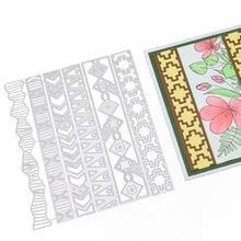 6 шт основных карт поздравительная открытка зубчатые головки