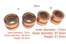 2PCS עבור פולקסווגן ישן סנטנה ג טה רכב גנרטור נחושת ראש להחליק טבעת אספן