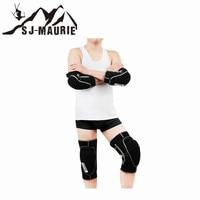 SJ Maurie 4pcs Ski Motorcycle Knee Elbow Support Protector Set Bicycle Bike Racing Skiing Skate Knee Pads Guard Elbow Pad