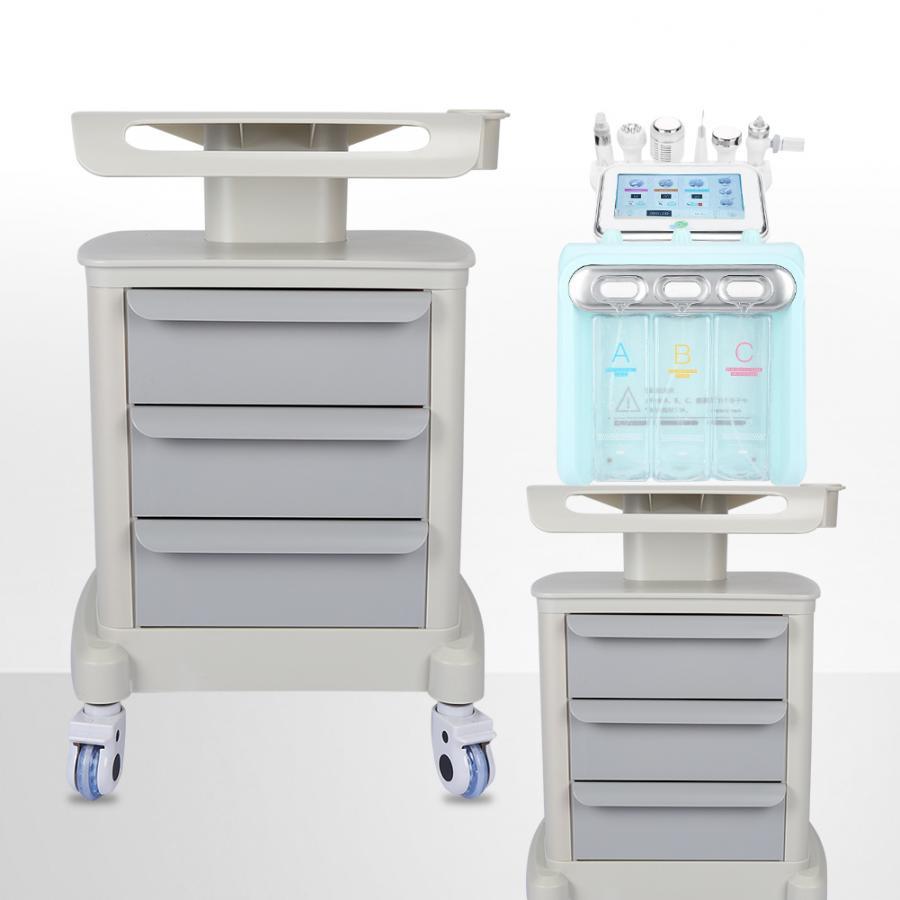 High Quality Salon Spa Use 3 Tiers Trolley Cart Shelf Universal Rolling Wheels Storage Rack Free Shipping