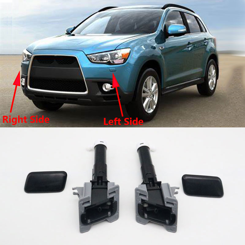 For Mitsubishi ASX 2010 2011 2012 2013 2014 2015 Head Lamp Washer Nozzle Jet Pump with Cover Cap Cle