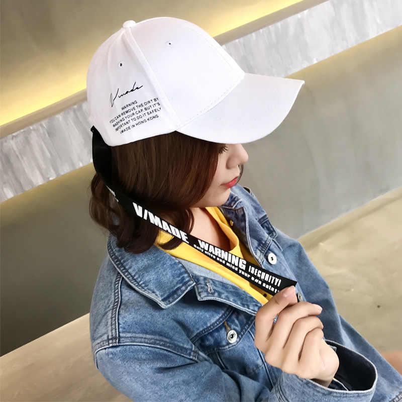 Moda pamuk ayarlanabilir erkekler beyzbol şapkası ve kapaklar mektup uzun kuyruk kemer rahat Hip Hop beyzbol kadın Streetwear şapka gorra hombre