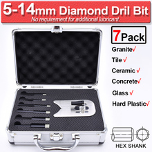 цена на Diamond Drill Bit SetFor Tile Ceramic Porcelain Stone Marble Granite Glass Hole Saw 6-20mm Diamond Coated Drill Bit D30