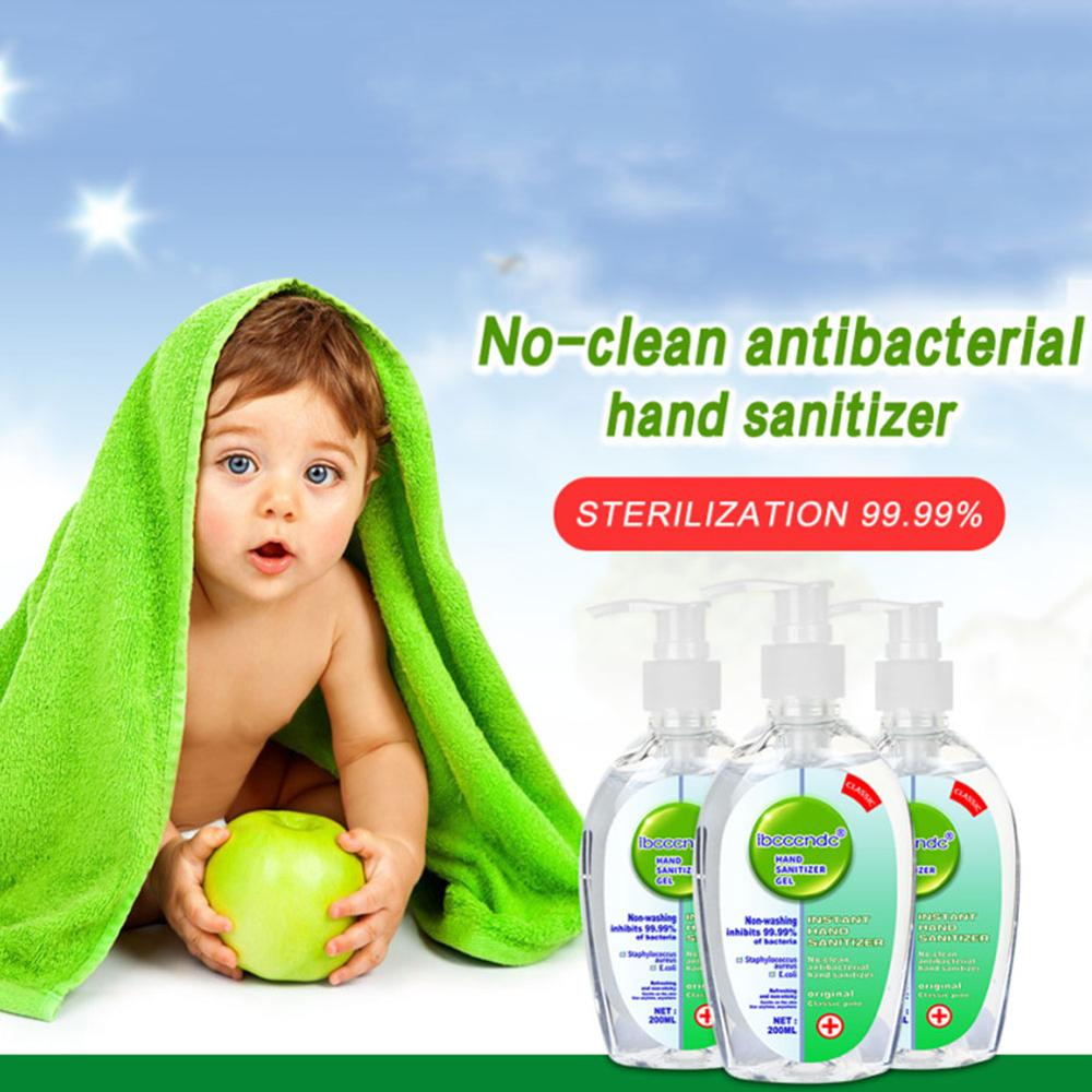 2 Pcs 200 Ml Disposable Hand Sanitizer No Clean Antibacterial Hand Sanitizer Disinfectant Sterilization Water-free Hand Wash Gel