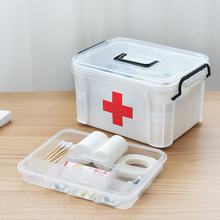Portable First Aid Kit Household Medical Emergency Box Medicine Storage Box Outdoor Travel Divider Drug Storage Organizer first aid kit storage hand organizer medicine box portable kits pp plastic drug storage box for household
