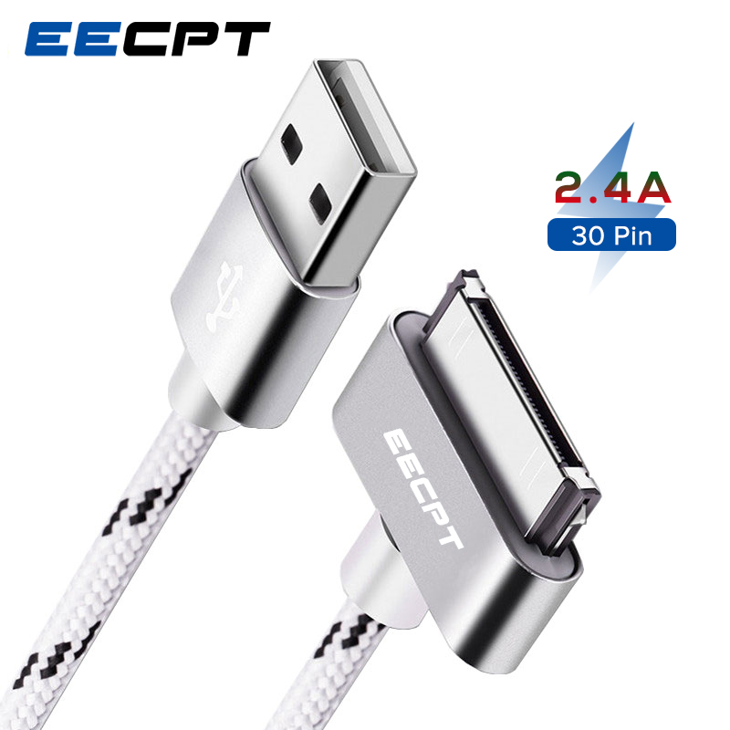 EECPT USB Cable for iPhone 4S 4 s iPad 2 3 iPod Nano iTouch 30 Pin Original Charger Cable Nylon Braided Wire Charging Data Cord(China)