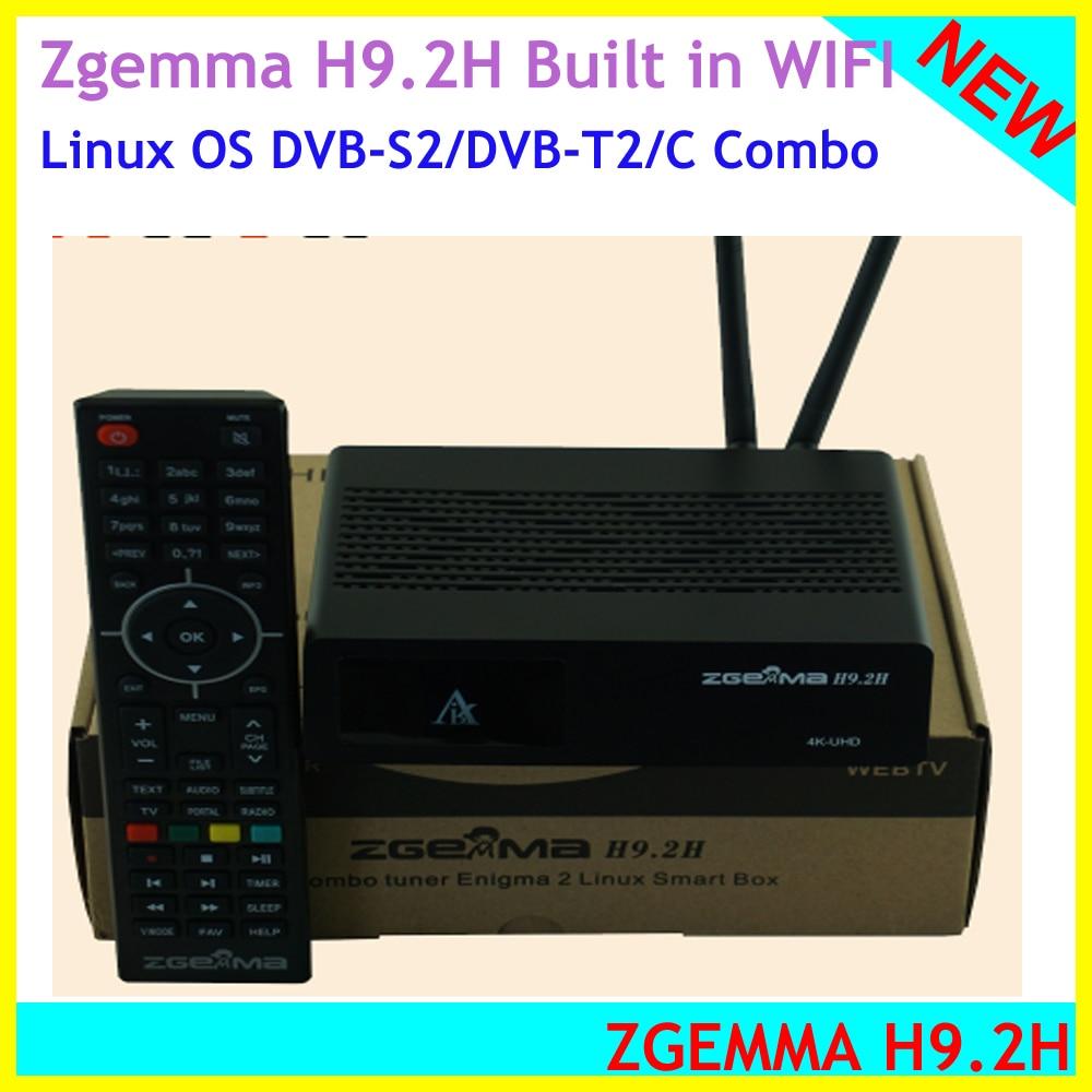 2019 najnowszy UHD 4K ZGEMMA H9.2H DVB-S2/DVB-C/T2 H.265 Enigma2 Linux 4.1 system dekoder DVB z ultraszybkim czterordzeniowym