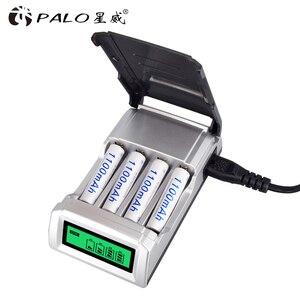 Image 5 - PALO cargador Universal C905W con 4 ranuras, pantalla LCD, cargador de batería de domótica para baterías recargables AA / AAA NiCD NiMH