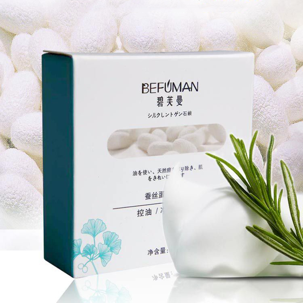 100g Removal Pimple Pore Acne Treatment Silk Protein Essence Cleaner Moisturizing Goat Milk Soap Face Care Wash Basis Soap TSLM1