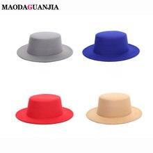 Шляпа круглая из искусственной шерсти для мужчин и женщин Панама