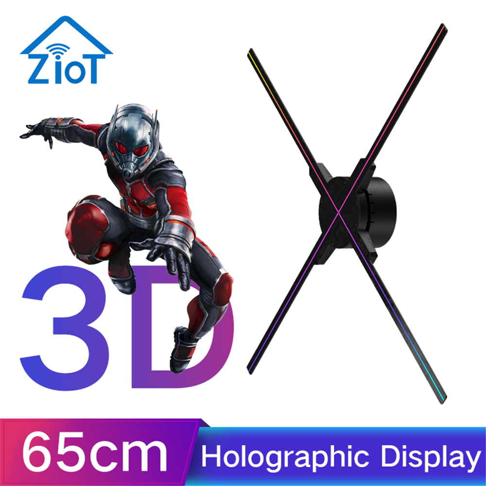 3D Hologram Advertising Display LED Fan Holographic Imaging 3D LED Fan Light 3d Display Advertising Logo Light Decoration