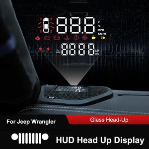 Image 2 - をqhcp車のヘッドアップディスプレイhdプロジェクタースクリーンhud速度超過警告アラーム検出隠し多機能ジープラングラーjl 18 19