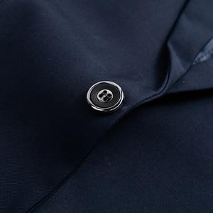 Image 5 - ジャケット + パンツ新メンズビジネススリムスーツセット無地ウェディングオフィスドレスツーピーススーツブレザーコートズボンチョッキ