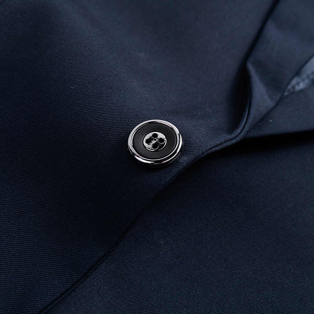 ジャケット + パンツ新メンズビジネススリムスーツセット無地ウェディングオフィスドレスツーピーススーツブレザーコートズボンチョッキ