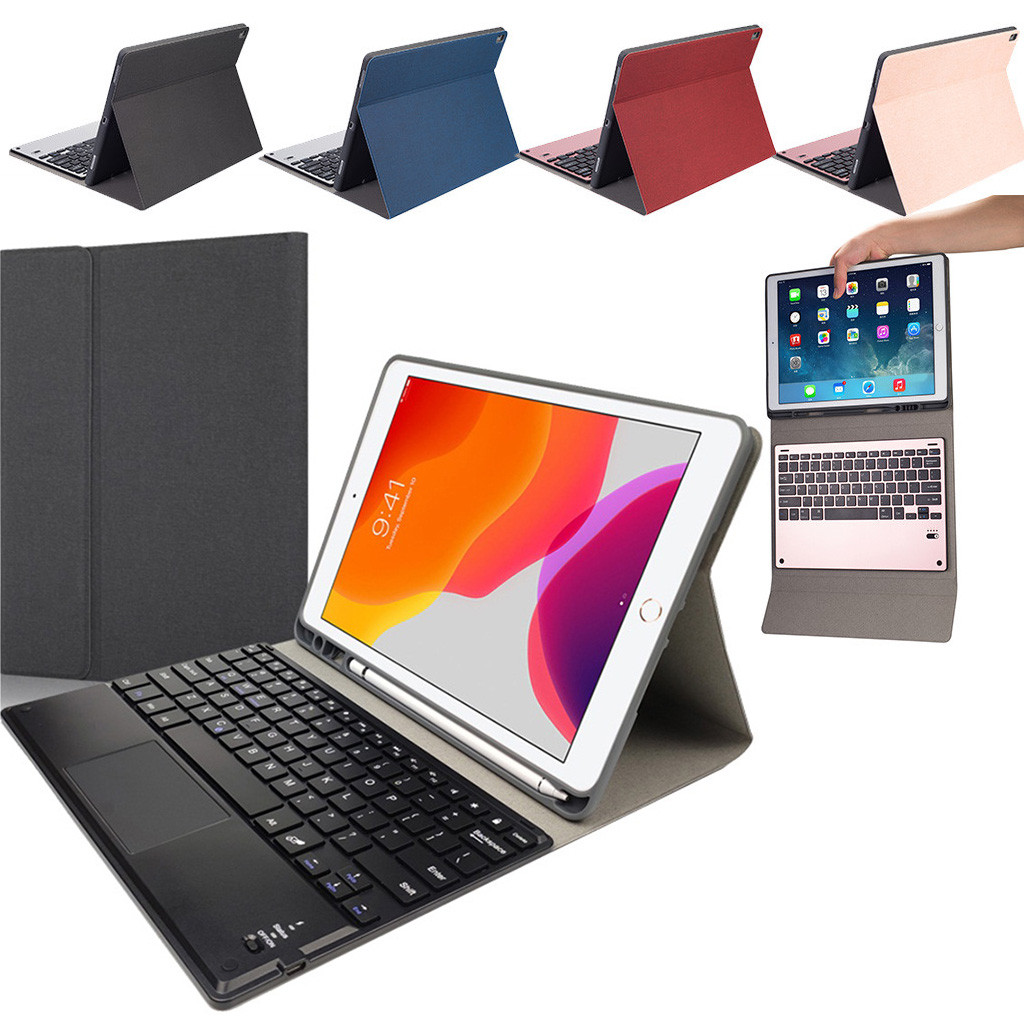Generation Detachable iPad Keyboard-Stand For Funda-Case with Pen-Slot Bluetooth Cover