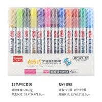 2.5mm akrilik boya kalemi 12 renk/Set kalem seramik kaya cam porselen kupa ahşap kumaş tuval boyama detaylı markalama