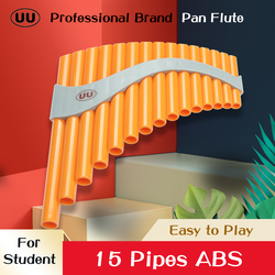 UU Pan Flute 15 Pipes Panpipes G Key Flauta Beginners ABS Plastic Panflute Professional Pan Pipe Woodwind Musical Instrument