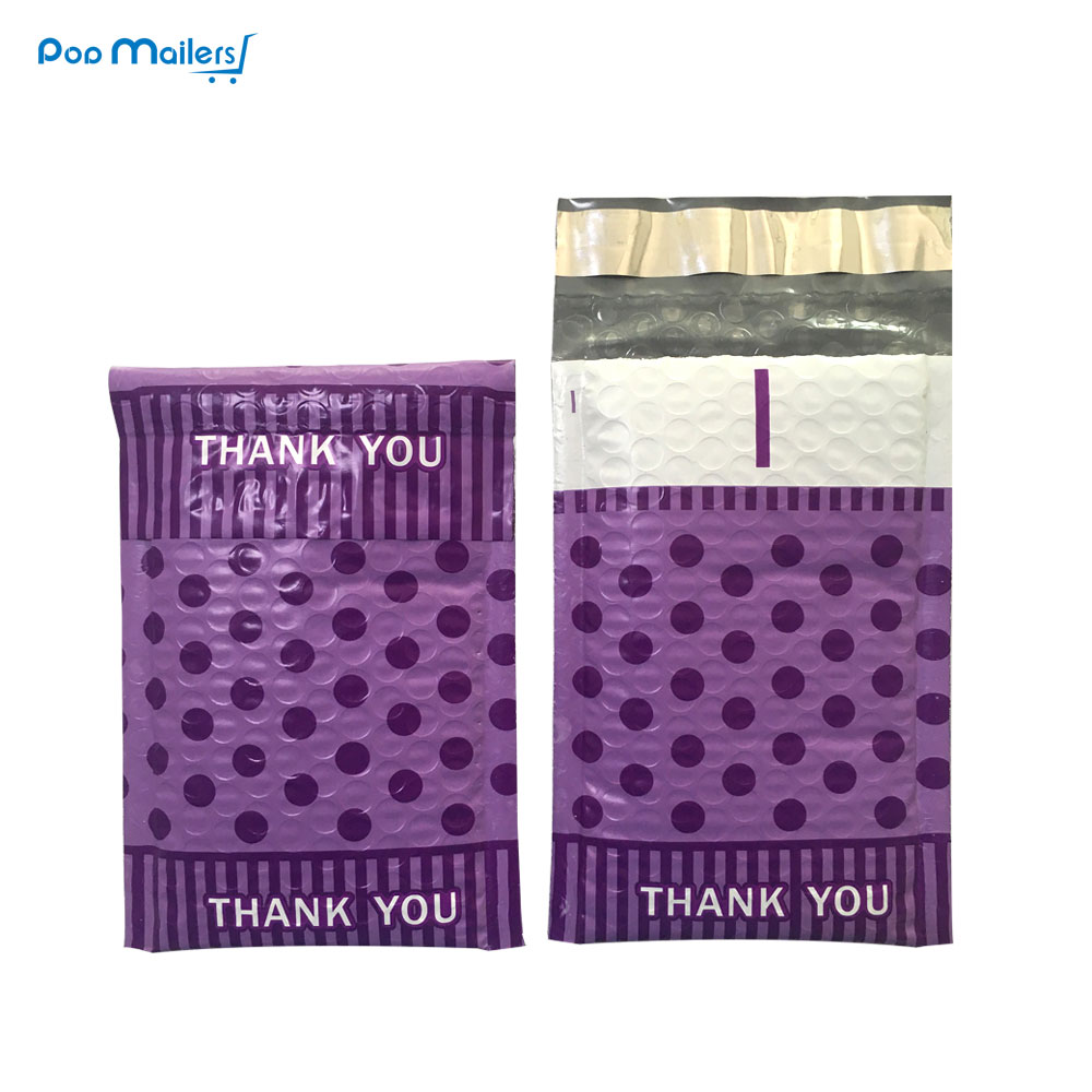 10stk # 000 Poly Bubble Mailers 4x7 inch / 120 * 180mm Bubble Konvolutter Purple spots design Bubble foret Poly Mailer