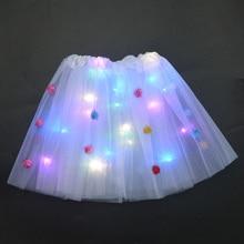 Skirts Tutu Led-Clothing Women Glow-Light Dancing Wedding-Party Adult Princess Cosplay