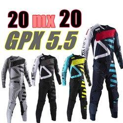 2020 GPX 5,5 набор снаряжения для мотокросса 4 цвета MX мото-комплекты ATV Dirt Bike Джерси и штаны Supercross Enduro Jersey Set