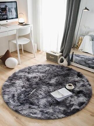 Tapis rond chambre Tatami nordique tapis peluche salon maison tapis - 5