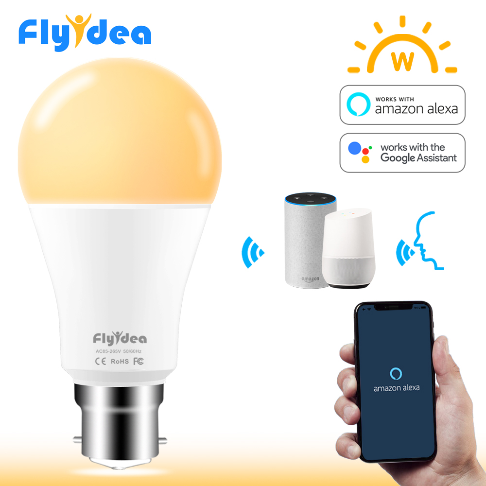 15W Smart Bulb B22 Wifi LED Light Bulb AC 85-265V Smart Home APP Wifi Remote Control Table Lamp With Alexa And Google Assistant