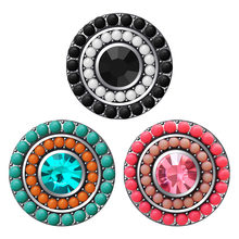 KZ354 Beauty Round beads Elegant fashion 18MM snap buttons fit DIY 18MM snap bracelet snap jewelry Christmas Gift(China)