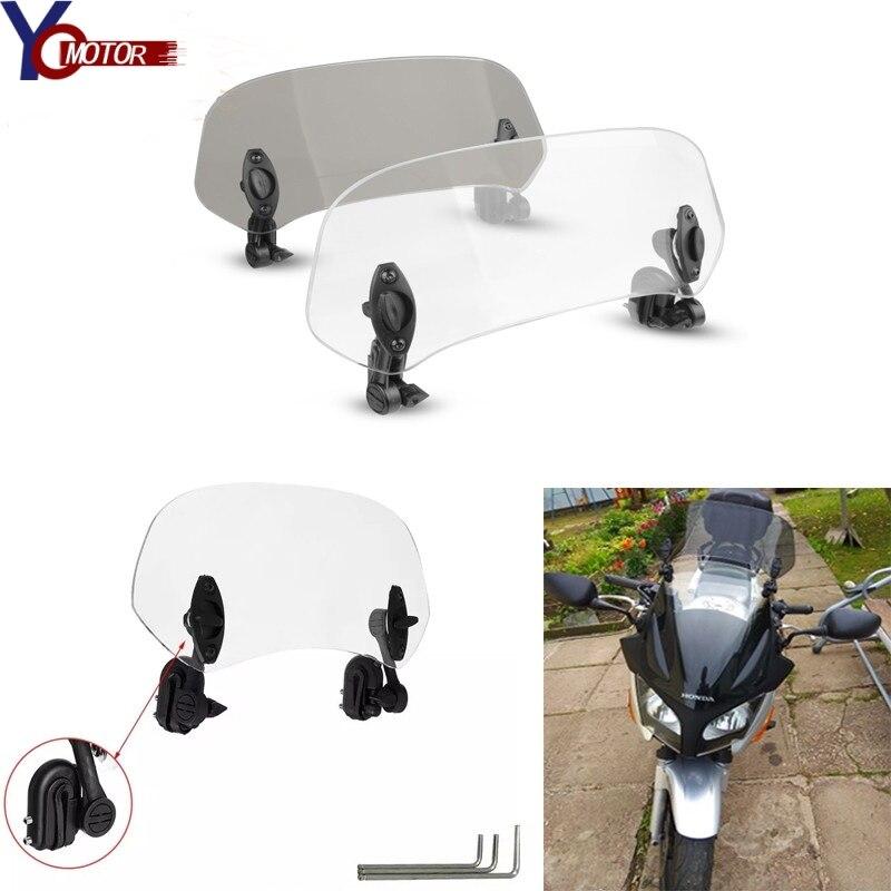 Moto augmenté pare-brise réglable pare-brise prolonger déflecteur d'air pour Yamaha majesté 400 x-city 250 TDM900 Smax YZF-R25