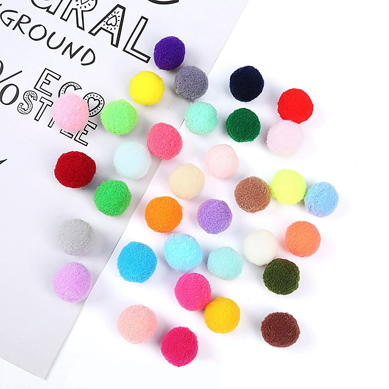 500Pcs 10mm Kids Creative DIY Soft Round Fluffy PomPoms Ball Mix Color Decoration Plush Painting Ball Eye Toy Gift 200Pcs 1.5cm