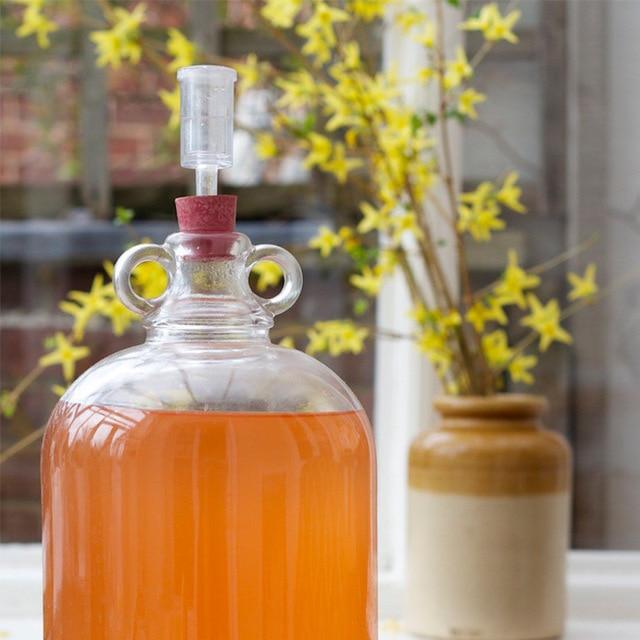 Válvula de retención de fermentación de cerveza de AirLock de vino de una vía, sello de agua de bloqueo de aire de plástico, fermentador de válvula de escape casero