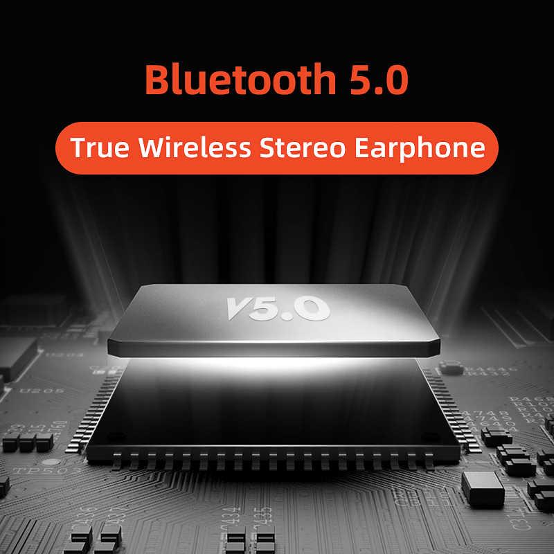 QCY T3 TWS ワイヤレスヘッドフォン Bluetooth V5.0 指紋タッチ 3D ステレオデュアルマイクイヤホン
