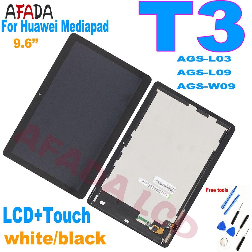 Новый ЖК-дисплей 9,6 дюйма для Huawei MediaPad T3 10 AGS-L03 AGS-L09 AGS-W09 сенсорный экран дигитайзер в сборе запасные части для ремонта