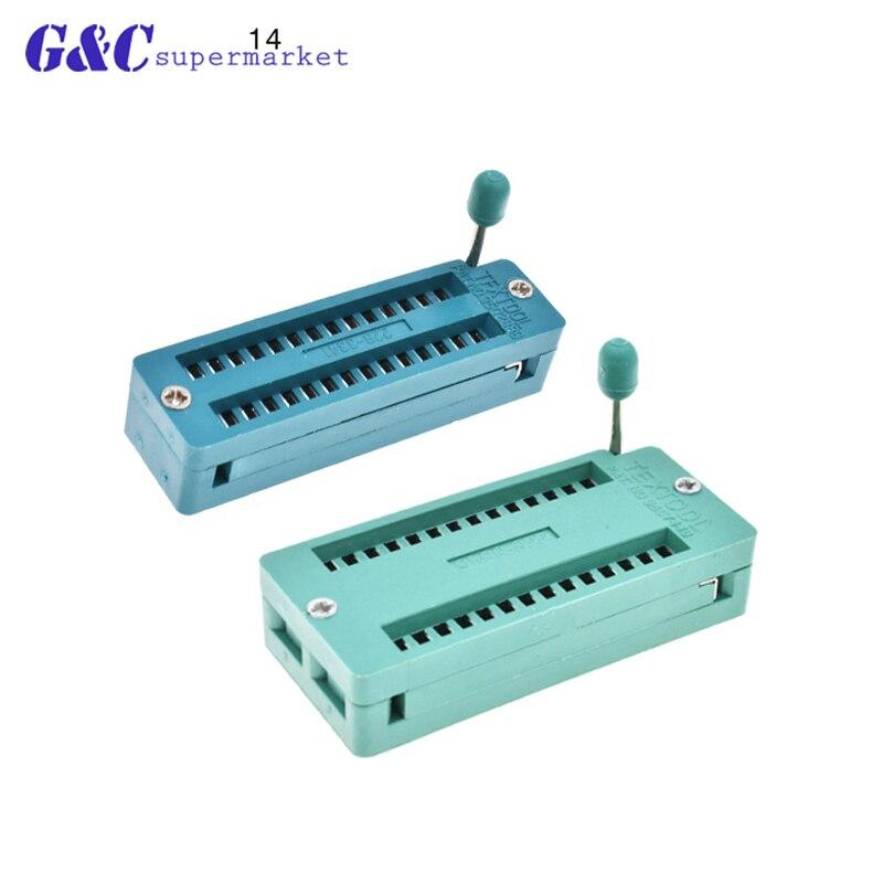 1/2PCS 28 Pins,1PCS 28Pin(WIDE) Test Universal ZIF IC Socket 28P Sockets AF diy electronics