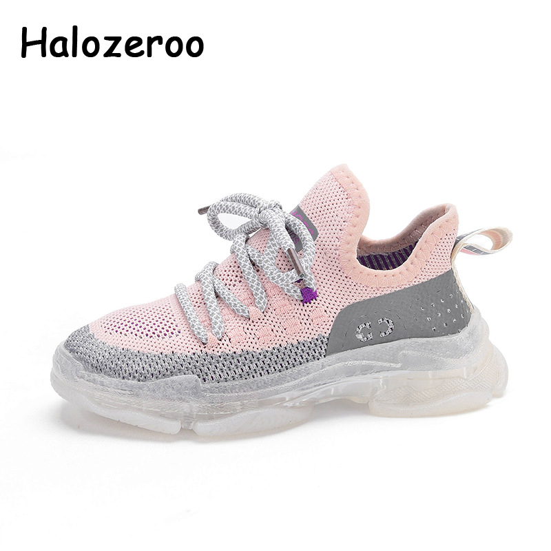 Spring Kids Sport Sneakers Boys Beige Slip On Shoes Children Mesh Chunky Sneakers Baby Girls Brand Casual Sneakers Trainers 2020