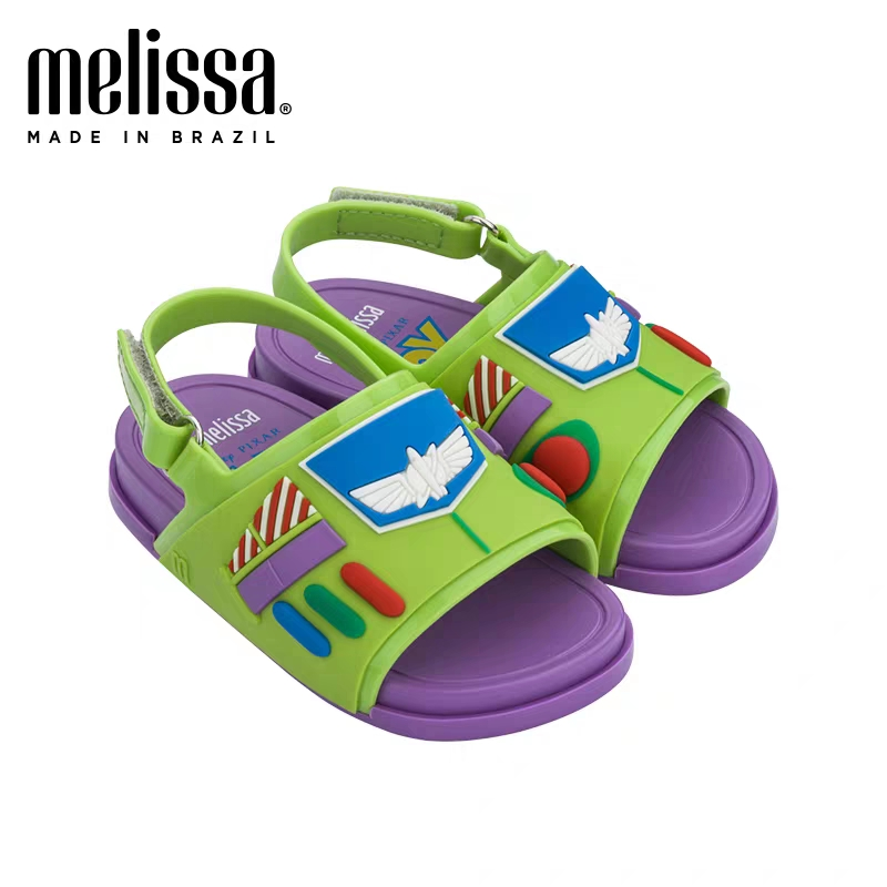 2020 mini melissa beach slide + toy story new summer boy girl jelly shoes girls non-slip sandals kids beach sandal toddler