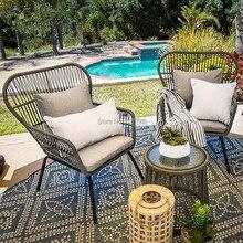 Наружный Балконный канат кофейный столик кресло садовый стол и стулья мебель
