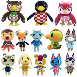 20cm 28cm Animal Crossing Plush Toy Cartoon Raymond free give away 1pcs Jingjiang Doll KK isabelle plush toys