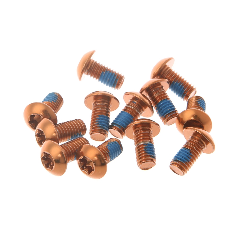 12Pcs Bicycle Brake Disc Screws Alloy Steel Bolt Rotor Cycling For Mountain Bike G8TD