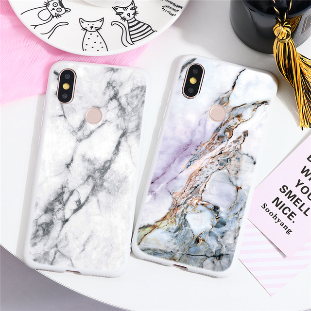 Marble Case For Xiaomi For Redmi Note 8 7 5 6 9 Pro 8T 7A 6A Mi A3 A1 A2 6X 9T 8 9 Lite SE F1 CC9 CC9e Note 10 TPU Cover Fundas 1
