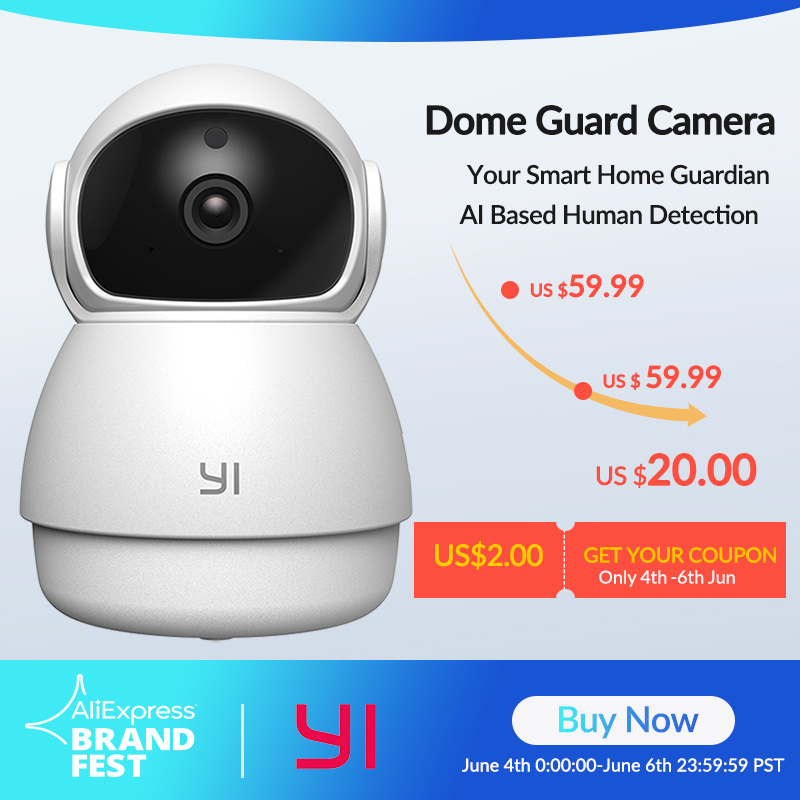 YI Dome Guard Camera 1080P FHD Night Vision 360 Degree Coverage Motion Human Detection Baby Crying Alert WIFI Time Lapse Cloud|Surveillance Cameras|   - AliExpress
