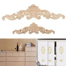 1PC European Style Floral Wood Carved Decal Furniture/Cabinets/Windows/Mirrors Appliques Frame Wooden Wall Doors Decoration
