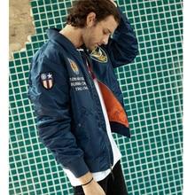 SMN летная куртка синяя мужская повседневная куртка пилота ВВС Весенняя Осенняя верхняя одежда военная куртка тонкое пальто