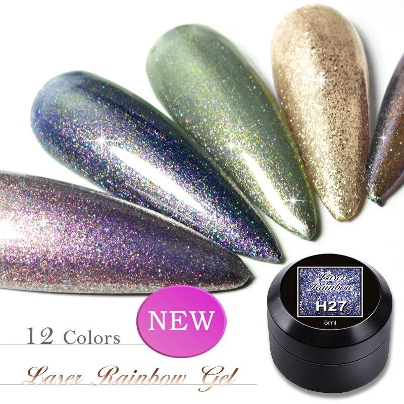 VENALISA Nail Art Semi Permanent UV Lacquer Hybrid Varnishes Gel Laser Rainbow Glitter Platinum UV Paint Enamel Gel Nail Polish