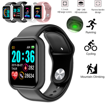 Digital Watch Blood Pressure Heart Rate Monitor Men Women Smart Bracelet IP67 Waterproof Sport Fitness Tracker For Android IOS smart fitness bracelet men color screen ip68 waterproof blood pressure heart rate monitor wristband for android ios pk id107