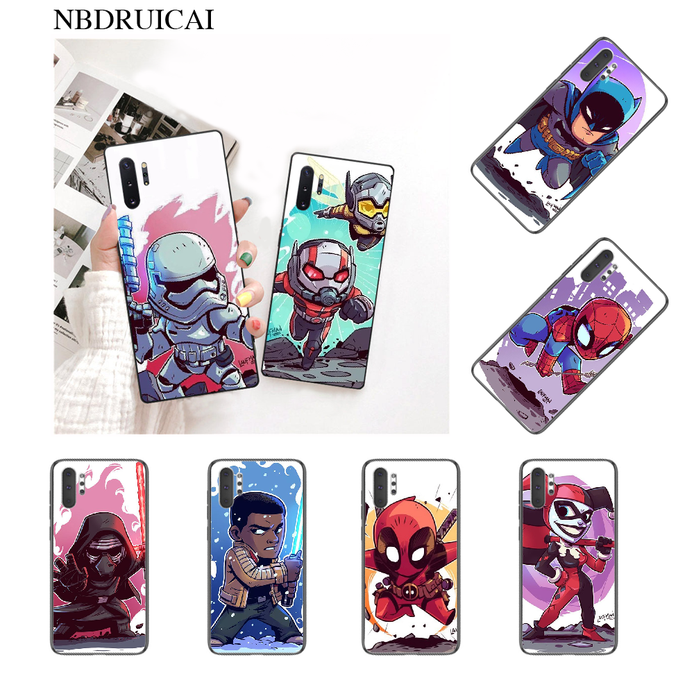 NBDRUICAI Comic <font><b>Star</b></font> <font><b>Wars</b></font> Black TPU Soft Rubber Phone <font><b>Cover</b></font> for Samsung <font><b>Note</b></font> 3 4 5 7 8 9 10 <font><b>pro</b></font> M10 20 30 image
